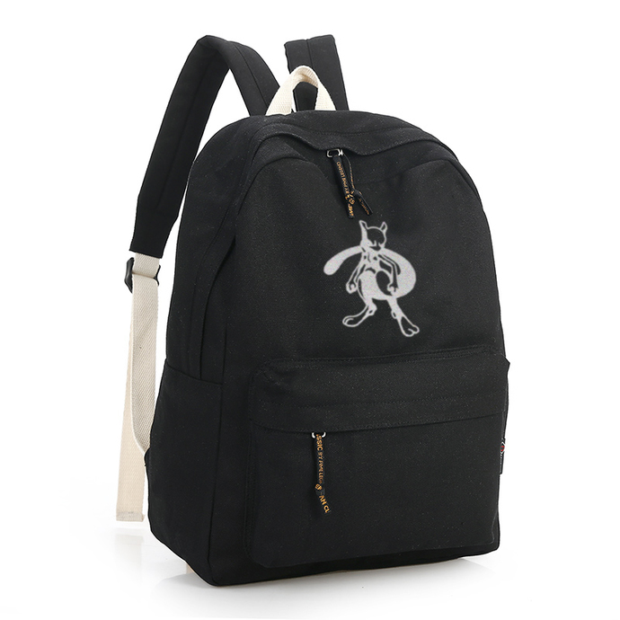 d709724900 POKEMON Mewtwo Black Canvas Backpack by GOKU on Zibbet