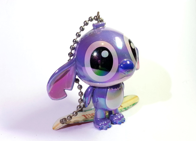 Japan Disney Iridescent Jointed Stitch (Purple) Cell Phone Charm Strap - New w/