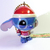 Japan Disney Iridescent Jointed Stitch Santa Suit Cell Phone Charm Strap - New