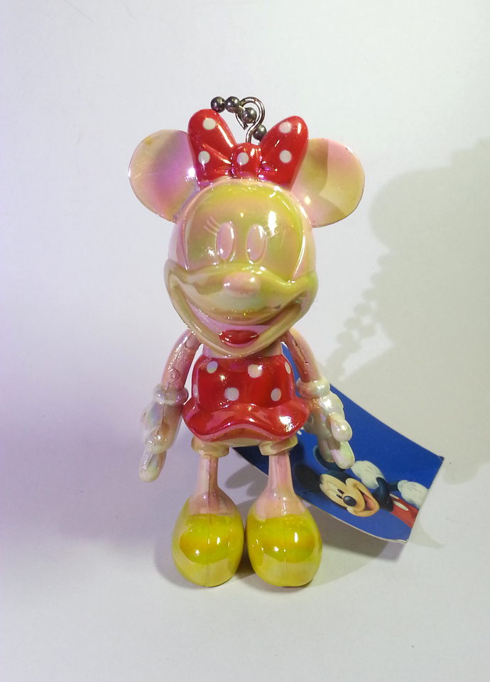 Japan Import Disney Iridescent Jointed Fancy Coloured Minnie Mouse In Red Dress