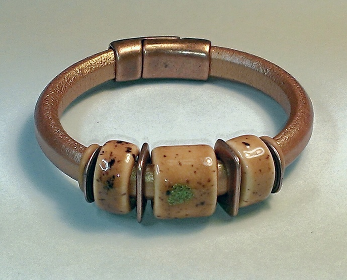 Regaliz Greek Leather Bracelet, #1477