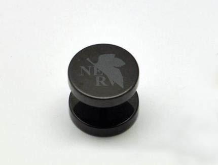 Neon Genesis Evangelion Black Stainless Steel Barbell Earring Ear Stud