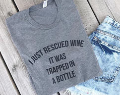 d550c12f MERMAID Off Duty Funny Ladies T-shirt · $24.00 · Marvelisse · I JUST  RESCUED WINE It Was Trapped In A Bottle ladies tee