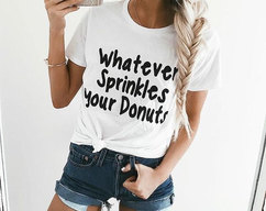 ccfddb97 WHATEVER Sprinkes Your Donuts ladies tee