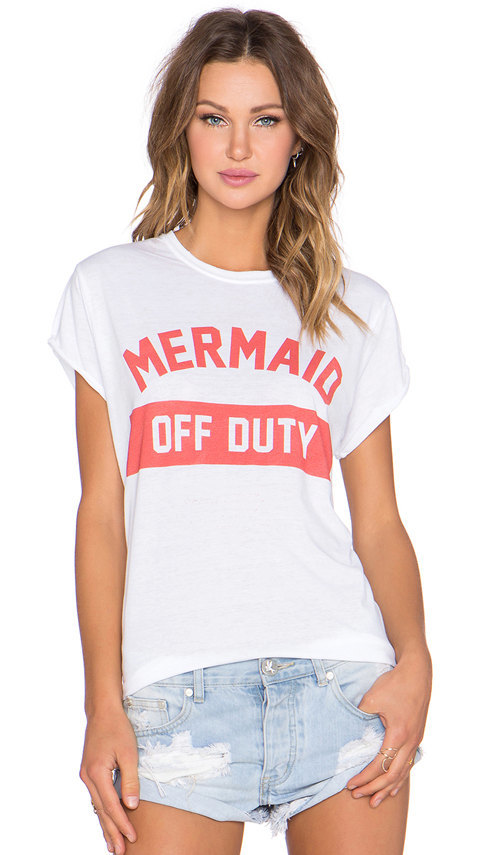 6119118f MERMAID Off Duty Funny Ladies T-shirt by Marvelisse on Zibbet