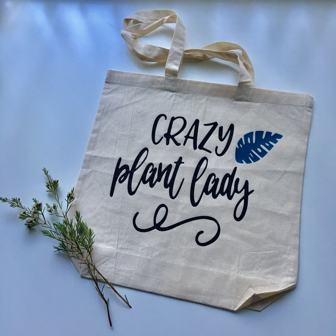 Crazy Plant Lady Custom Tote bags, plant lovers