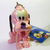 Japan Disney Iridescent Jointed Baby Pluto In Pink Cell Phone Charm Strap - New