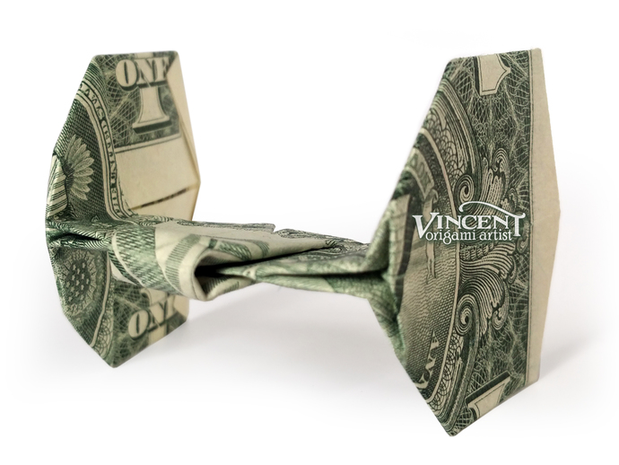 Tie Fighter Money Origami Art Dollar By Vincent The Artist On Zibbet