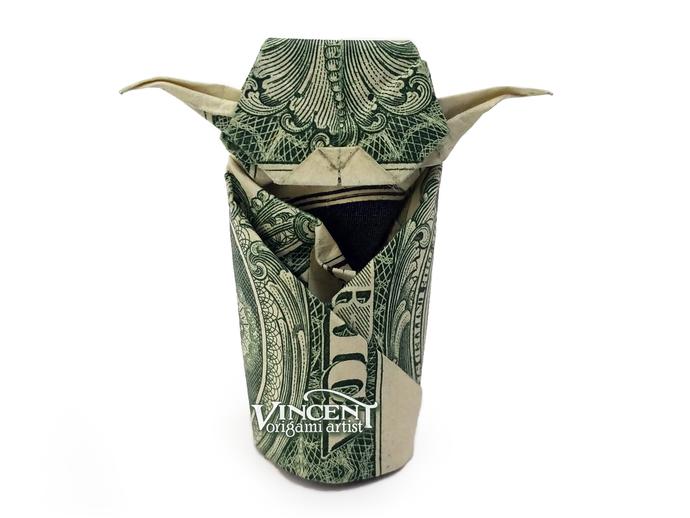 Money 4-Pointed Star - Make-Origami.com | 518x690