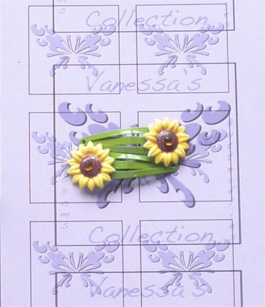 Sunflower Clips, Yellow Flower Hair Clip