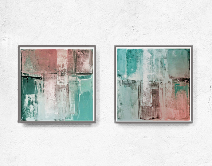 Digitat abstract, contemporary art, scandinavian ,peach, PRINTABLE , Abstract