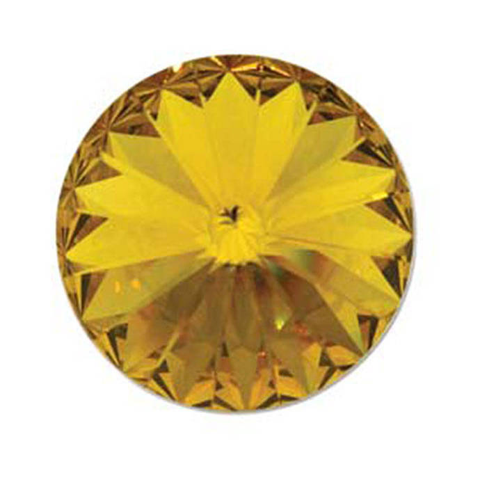 Swarovski Sunflower Foiled Faceted Rivoli Stone Beads 1122 14mm