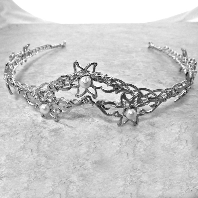 Flower of Rohan Crystal Crown Tiara Eowyn Celtic Weave Circlet