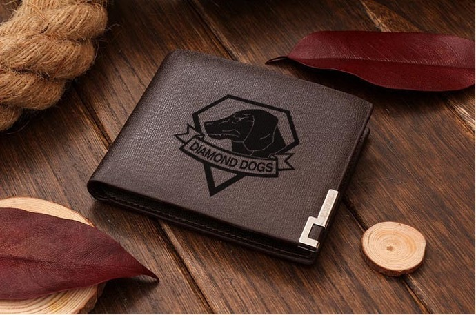 Metal Gear Solid Diamond Dogs Leather Wallet