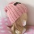 READY TO SHIP Black Crescent Moon Upside Down / Pink Slouchy Hat - Women's,