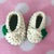 READY TO SHIP St. Patrick's Day Shamrock Baby Booties - Newborn to Six Weeks