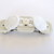 Barrette White on White Button Barrette FREE US Shipping