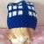 READY to SHIP POLICE BOX Inspired Slouchy Hat / Beanie / Beret - Cosplay,