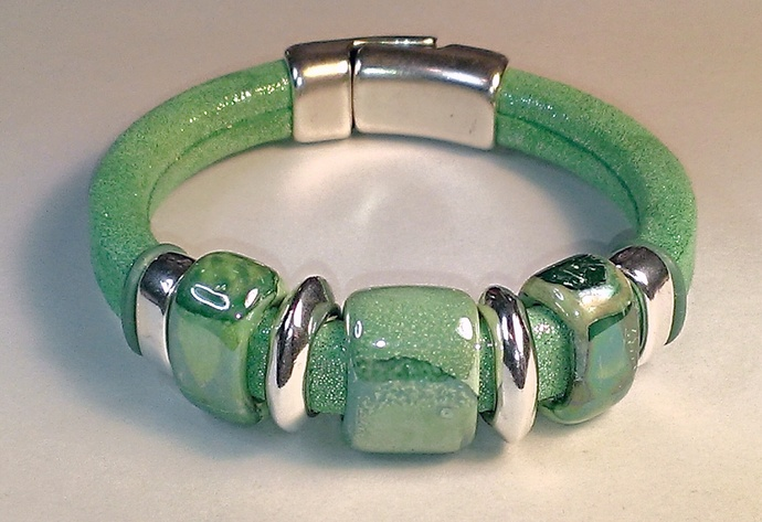 Licorice Leather Starlight Bracelet, Item #1480