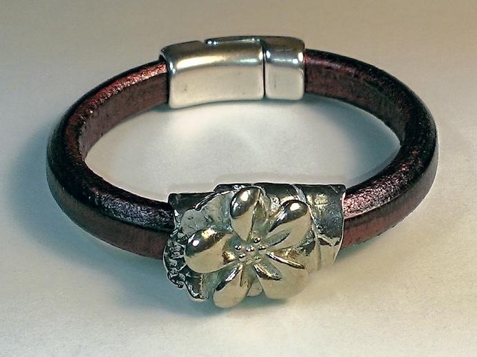 Regaliz Greek Leather Bracelet, Item #1481