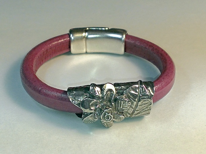 Regaliz Greek Leather Bracelet, Item #1482