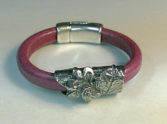 Regaliz Greek Leather Bracelet, Item #1482