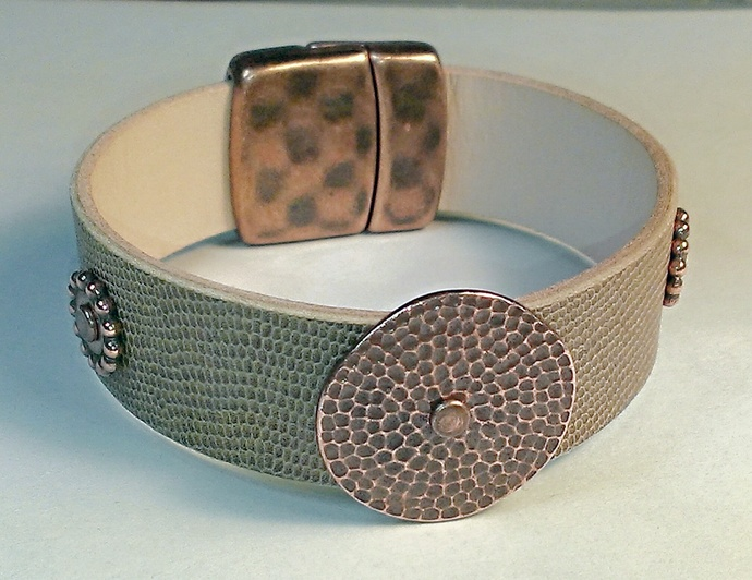 Euro Italian Leather Bracelet, Item #1483