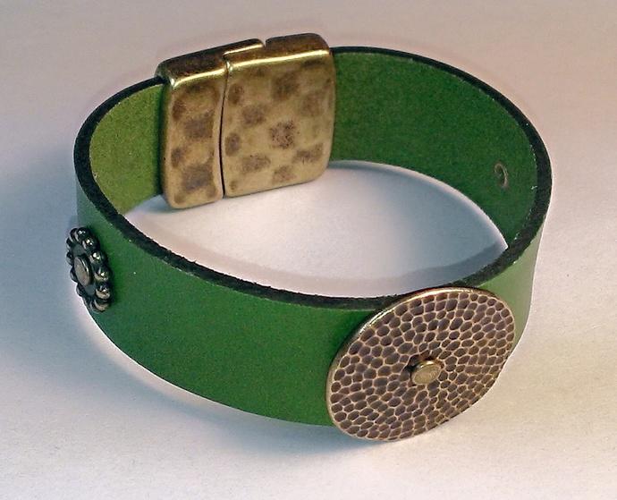 Euro Italian Leather Bracelet, Item #1484