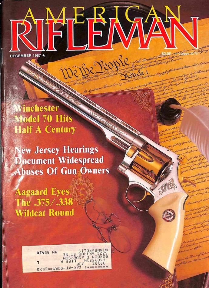 American Rifleman Magazine, December 1987