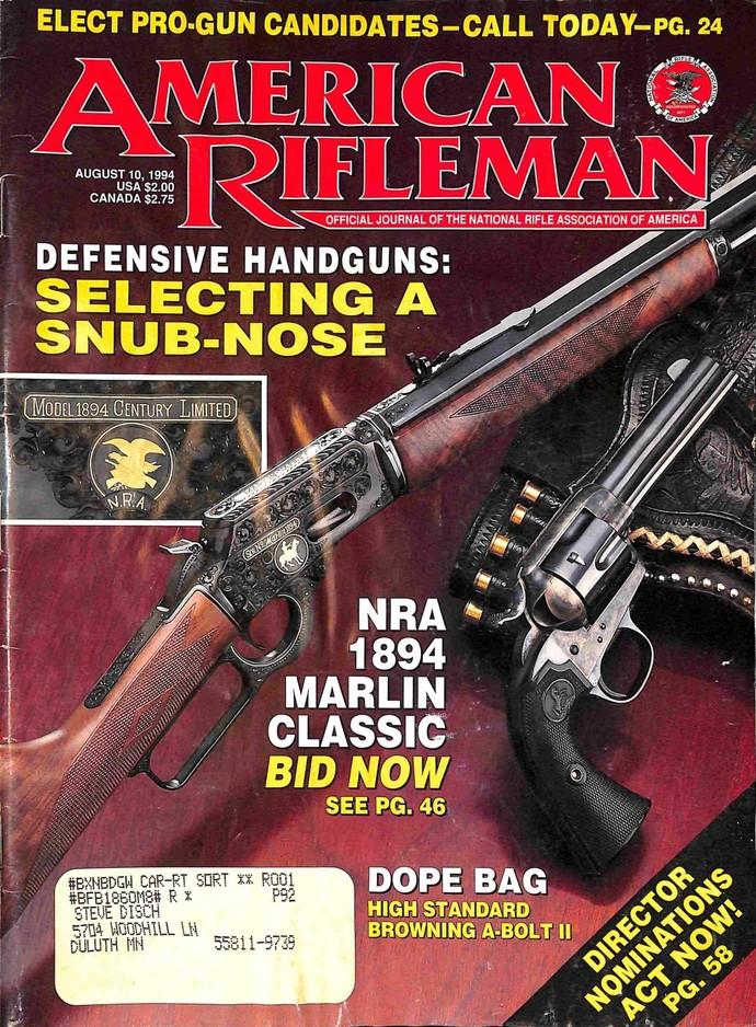 American Rifleman, August 10 1994