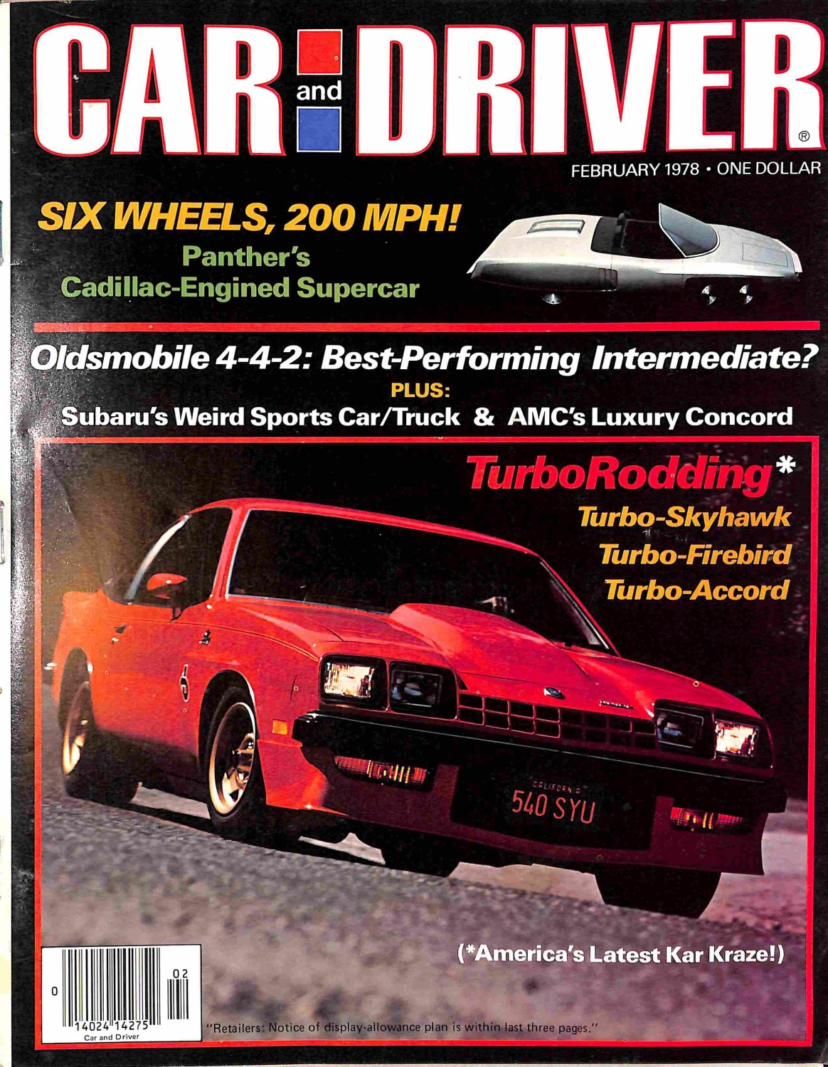 Car And Driver Magazine, February 1978 By Meremartcom On Zibbet