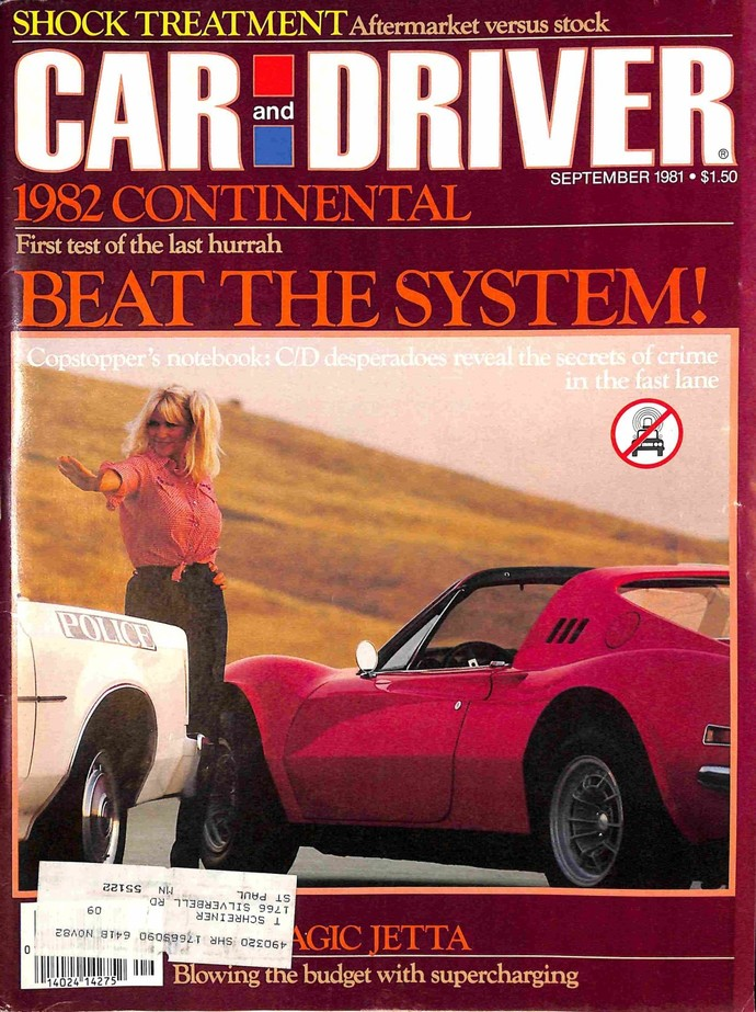 Car and Driver Magazine, September 1981
