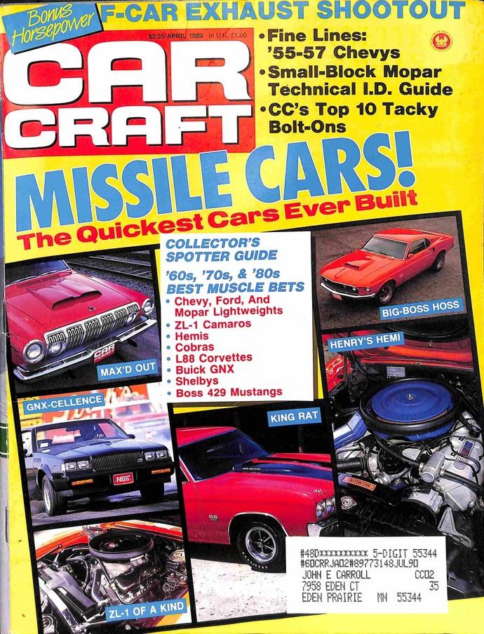 Car Craft, April 1989