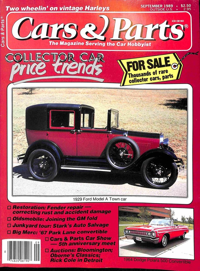Cars and Parts, September 1989