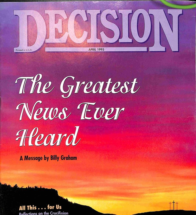 Decision Magazine, April 1995