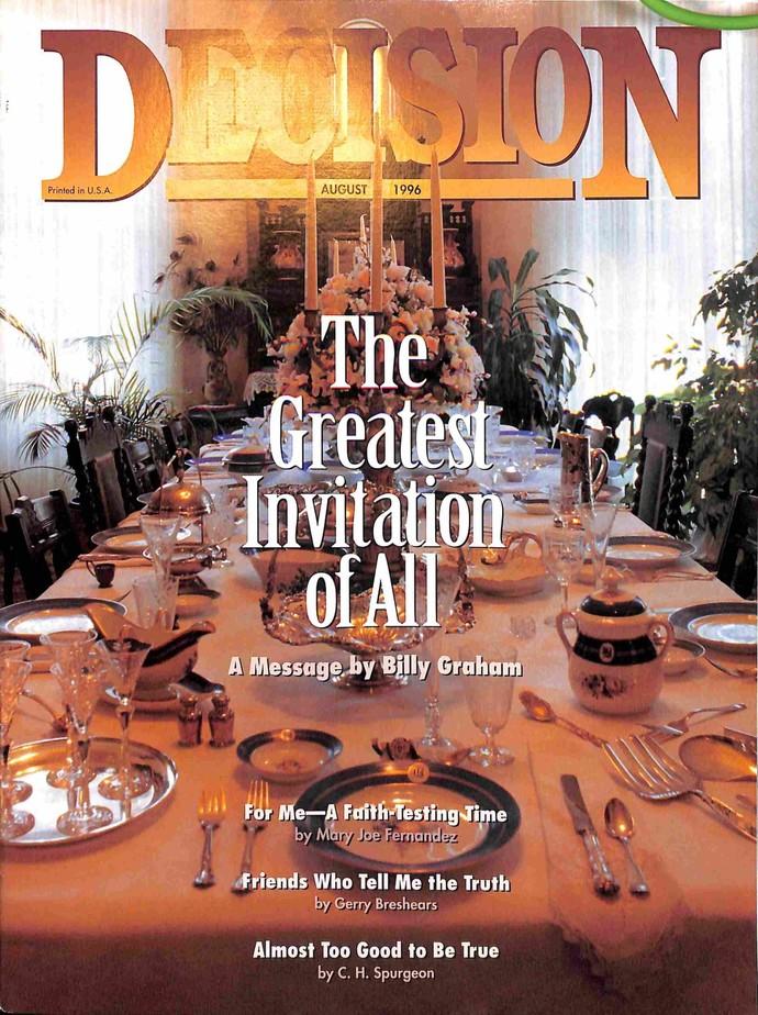 Decision Magazine, August 1996