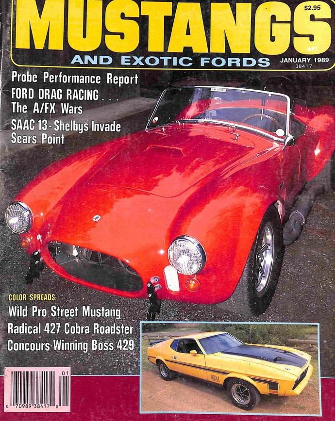 Fabulous Mustangs and Exotic Fords Magazine, January 1989