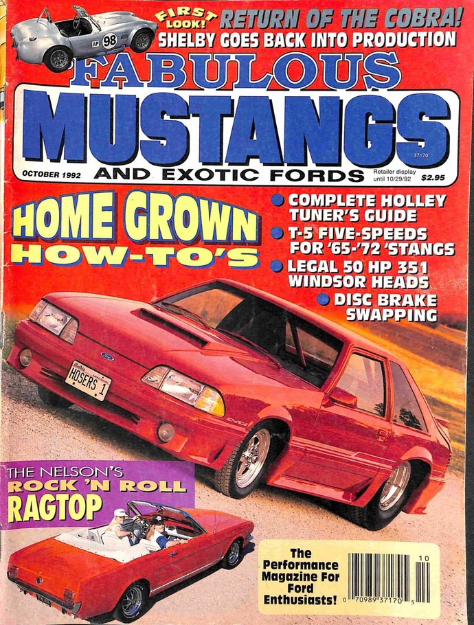 Fabulous Mustangs and Exotic Fords Magazine, October 1992