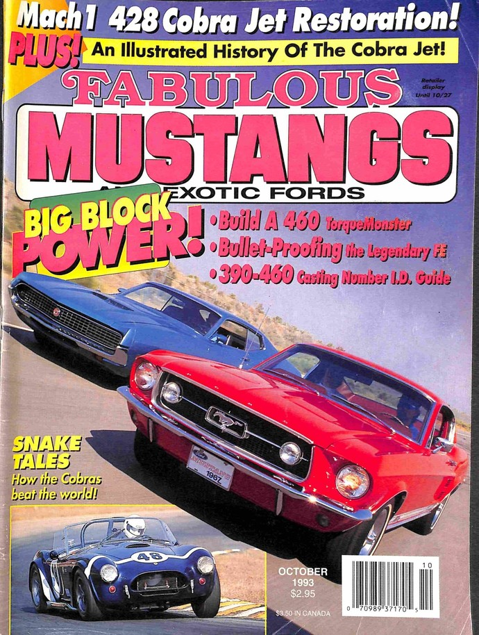 Fabulous Mustangs and Exotic Fords Magazine, October 1993
