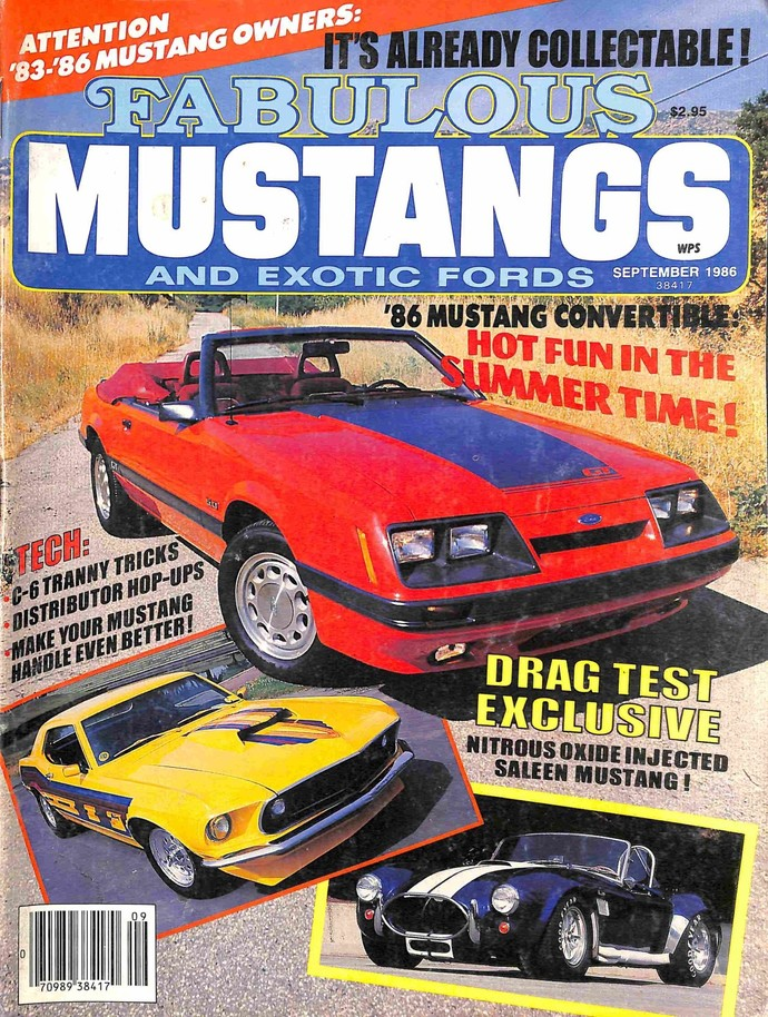 Fabulous Mustangs and Exotic Fords Magazine, September 1986