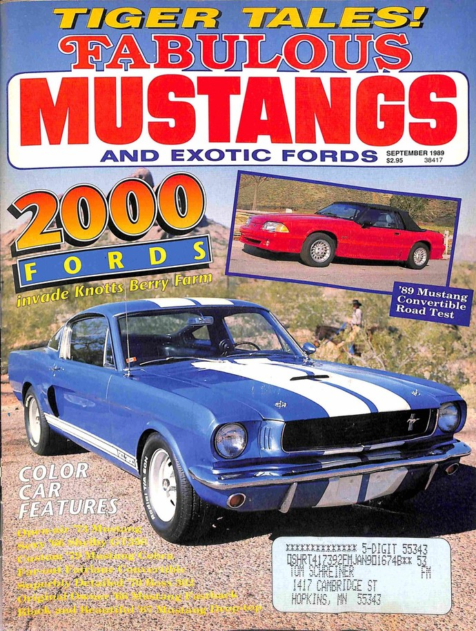 Fabulous Mustangs and Exotic Fords Magazine, September 1989