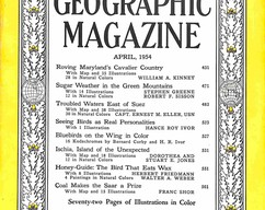Item collection national geographic magazine april 1954 2015 07 31 15 52 18