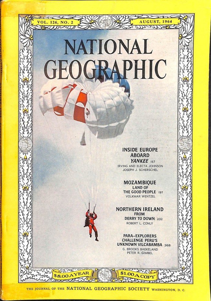 National Geographic Magazine, August 1964