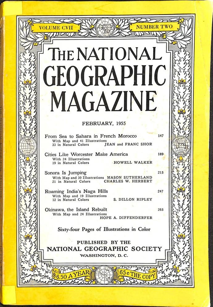 National Geographic Magazine, February 1955