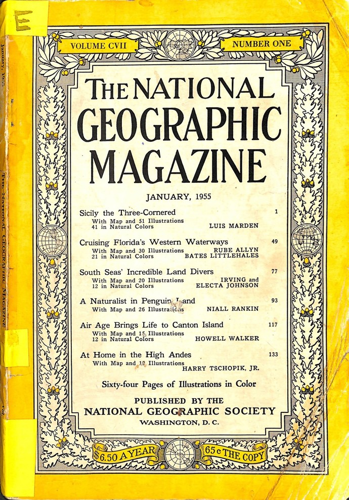 National Geographic Magazine, January 1955