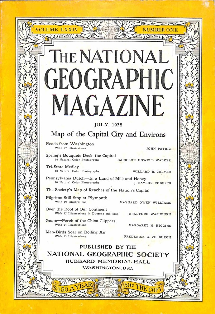 National Geographic Magazine, July 1938