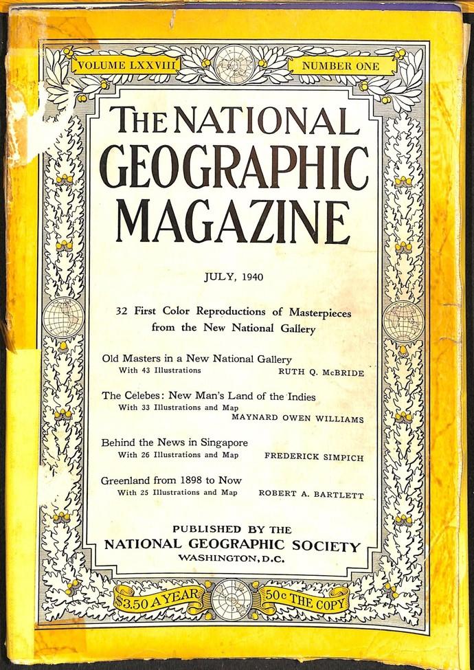 National Geographic Magazine, July 1940