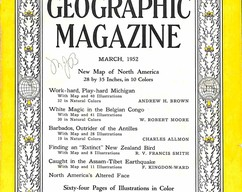 Item collection national geographic magazine march 1952 2015 07 31 12 15 09