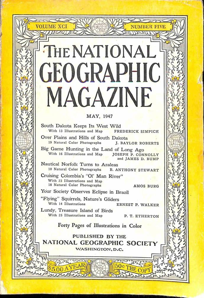 National Geographic Magazine, May 1947
