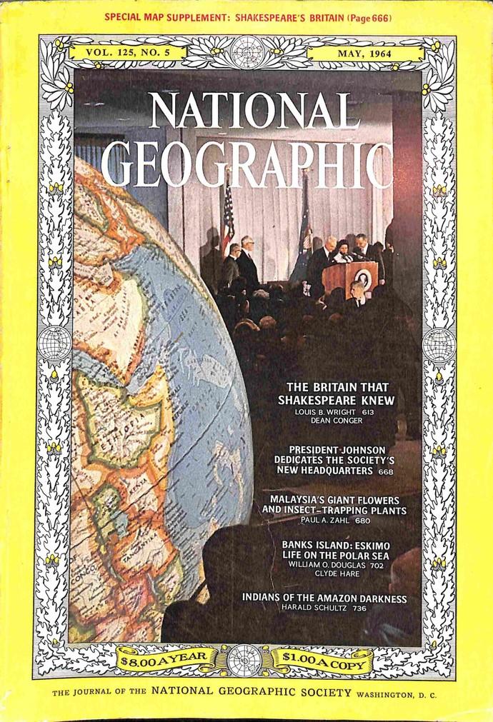 National Geographic Magazine, May 1964
